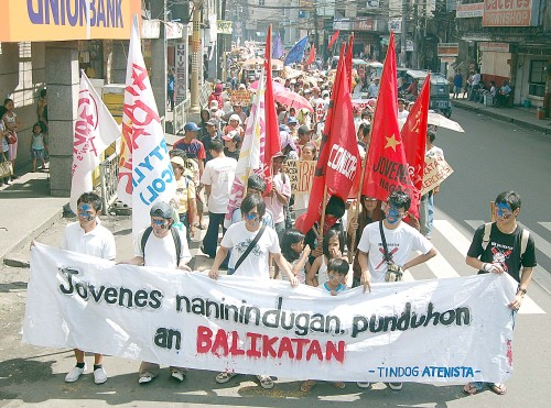 Thousands of people went out and marched against Balikatan in Naga City, Camarines Sur