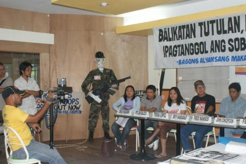 Press Conference against Balikatan